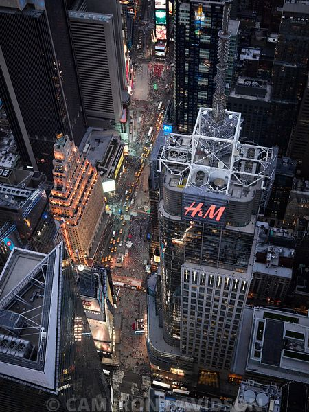 Aerial Photograph of Times Square