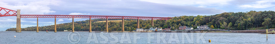 South Queensferry waterfront and Forth rail bridge, Scotland