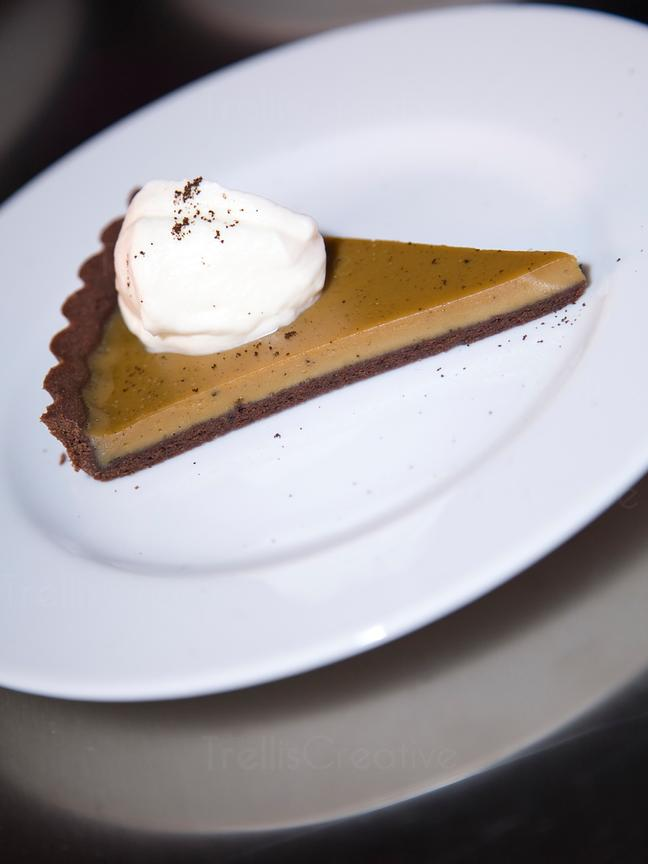 Chocolate pie with fresh whipped cream