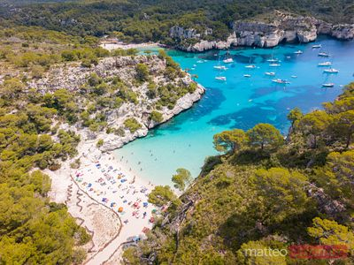 Cala Macarelleta from the top, Menorca, Spain