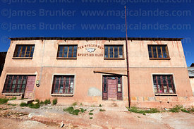 The Strongest Sporting Club building in historic mining town of Pulacayo, Potosi Department, Bolivia