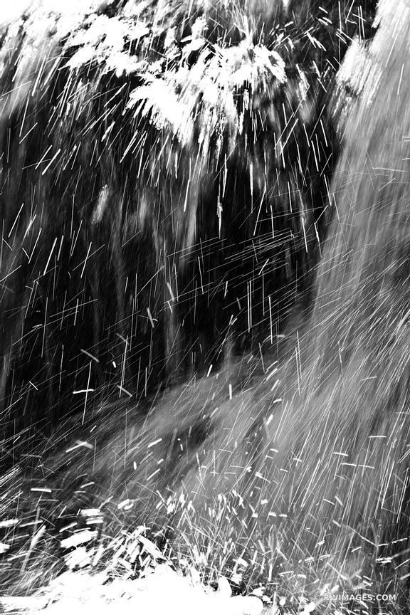 WATERFALL NATURE ABSTRACT BLACK HOLLOW FALLS SHENANDOAH NATIONAL PARK VIRGINIA BLACK AND WHITE