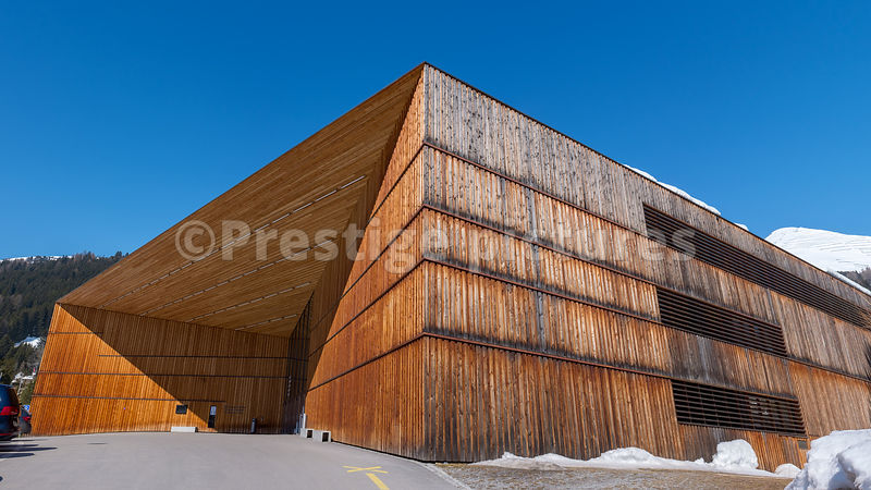 The Davos Congress Centre - Royalty free stock photo