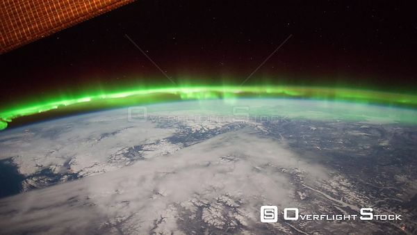 Time-Lapse from ISS over  Canada Aurora Borealis 25 Jan 2012