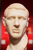 "Marble portrait of unknown Roman man. ""Portraits. The Many Faces of Power"" Exhibition"