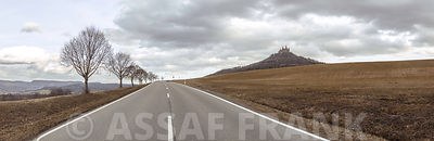 Countryside Highway and Hohenzollern Castle, Germany