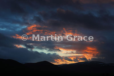 Cairn Gorm sunset, Cairngorm National Park, Scottish Highlands