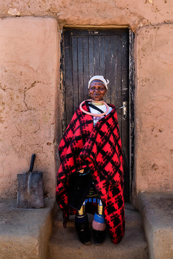 Ndebele Woman Outside her Home