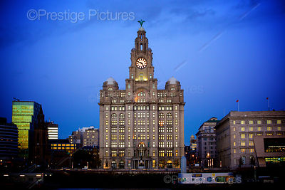 The Royal Liver Building at Dusk