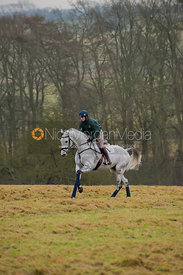 Piggy French exercising at Gumley for British Eventing Magazine