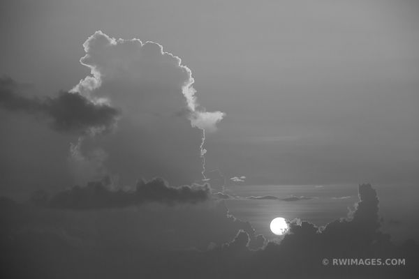 SUNSET KEY WEST FLORIDA BLACK AND WHITE