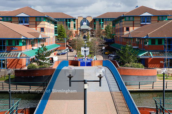 The Waterfront bars, restaurants and offices in Merryhill, Brierley Hill, West Midlands.