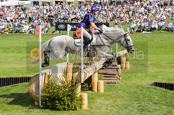 Ashley Edmond and TRIPLE CHANCE II, cross country phase, Land Rover Burghley Horse Trials 2018