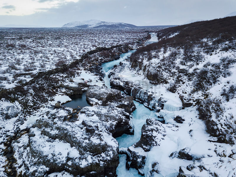 Aerial View of Barnafoss