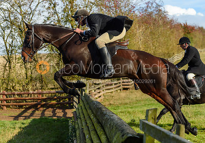 Rory Bevin jumping a fence. Quorn Hunt Opening Meet 2018