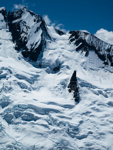Coastal Mountains Glacier, Aerial Photo