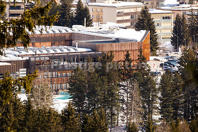 High View of The Davos Congress Centre - Royalty free stock photo
