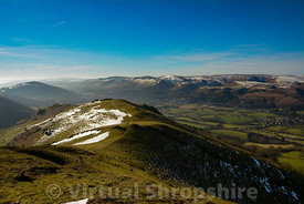 Church Stretton & the Long Mynd from Caer Caradoc