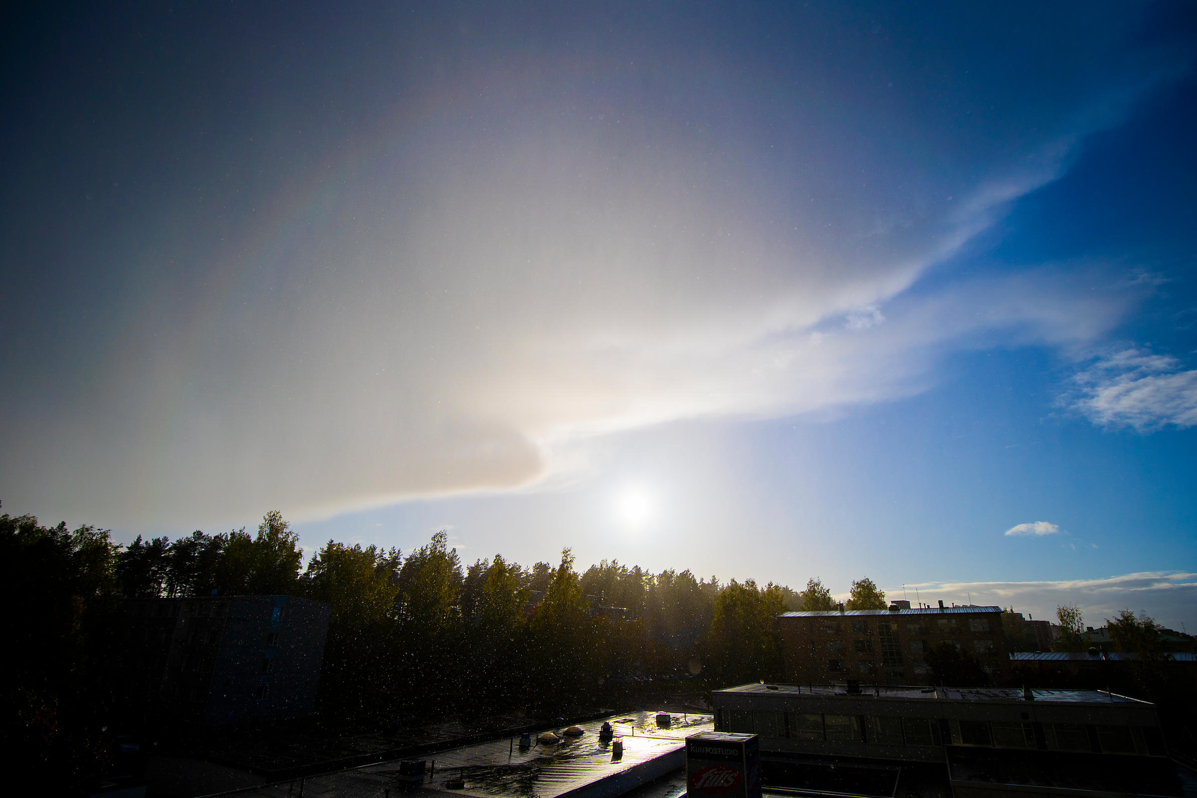 Rarely observed third-order Rainbow in Lahti, Finland on Sep 22 2018.