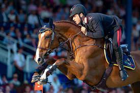 19/07/18, Aachen, Germany, Sport, Equestrian sport CHIO Aachen 2018 - ,  Image shows Emanuele GAUDIANO (ITA) riding Chalou. C...