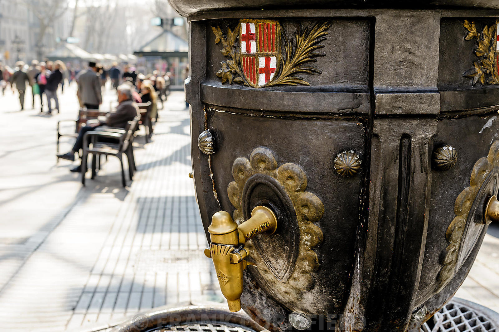 Ramblas water fountain