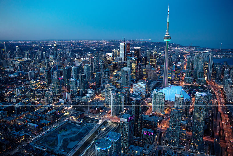 Downtown Toronto at Dusk