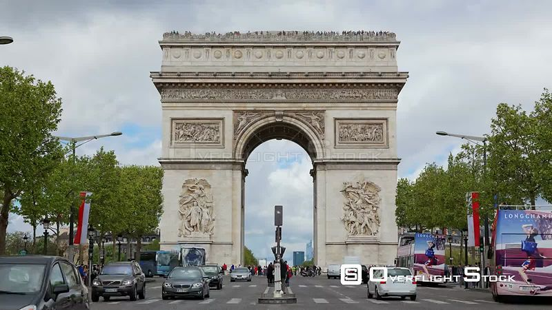Timelapse of the Arc de Triomphe Paris France