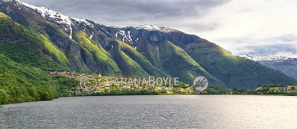 Town by the fjord, Norway