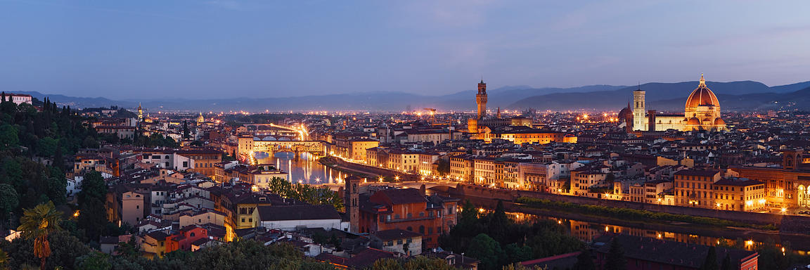 View of the Ponte Vecchio and the River Arno