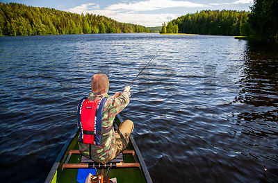Fishing on lake Päijänne