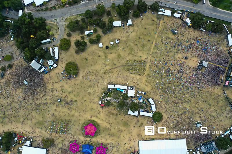 Aerial Drone Video TimeLapse 2018 Austin City Limits Music Festival Texas