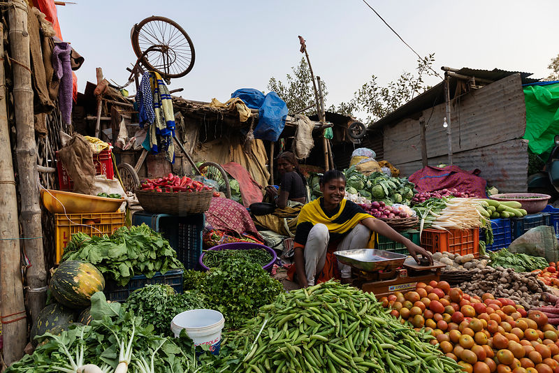Vegetable Market on the Bank of the Yamuna River