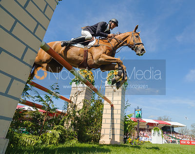 Andrew Nicholson and NEREO - show jumping phase,  Land Rover Burghley Horse Trials, 2nd September 2012.