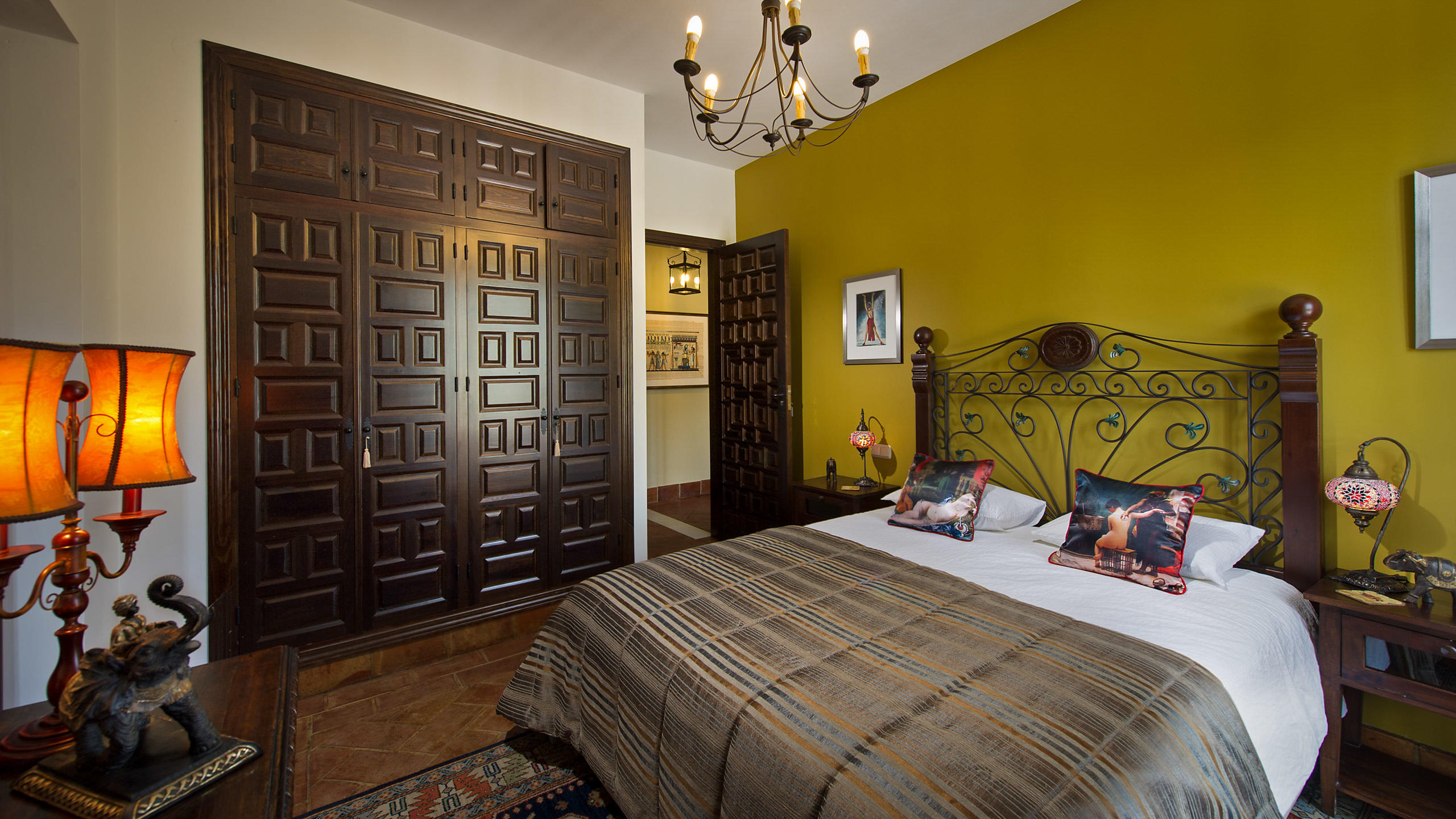 Luxury Villa Hotel Bedroom Interior in Andalucia, Spain