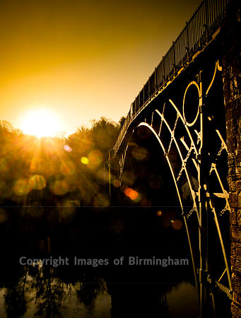 The Ironbridge in Ironbridge, Telford, Shropshire, along the River Severn, England.