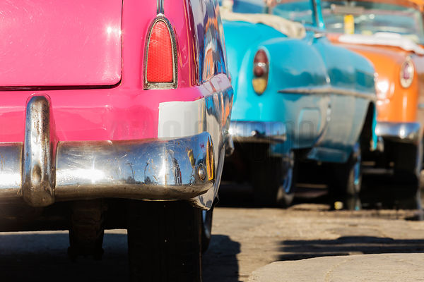 Vintage American Cars on the Malecón