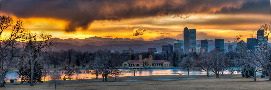 City Park Winter Sunset