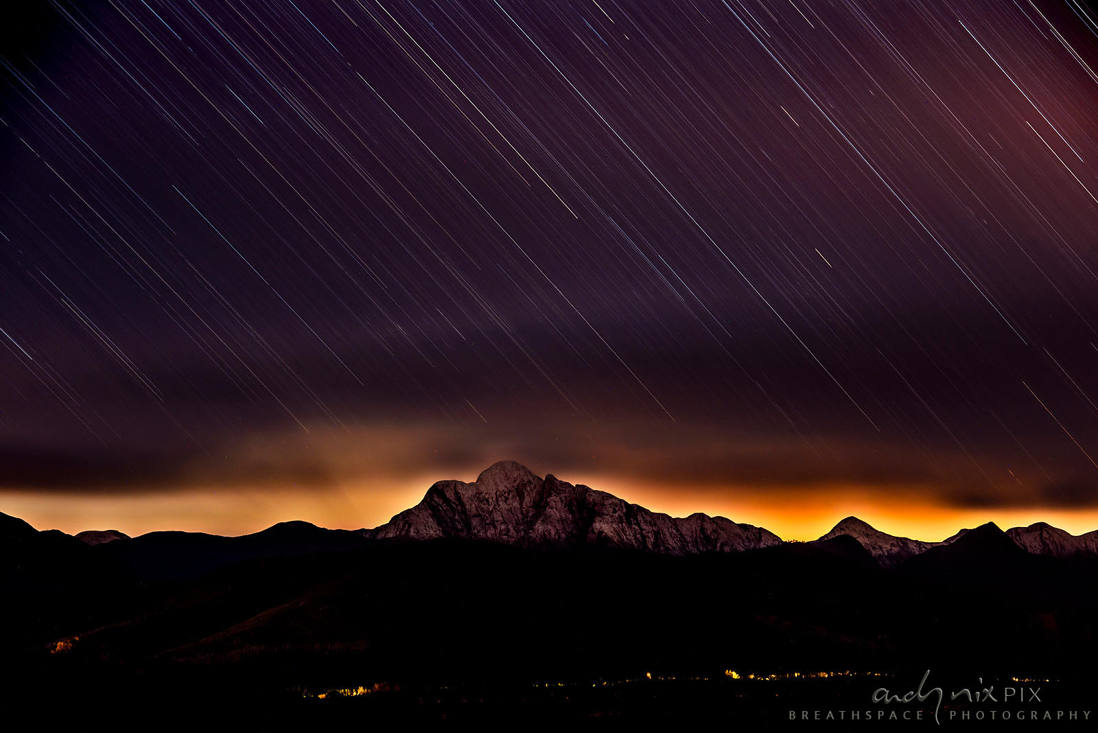 Star Trails and Night Glow over Formosa Peak
