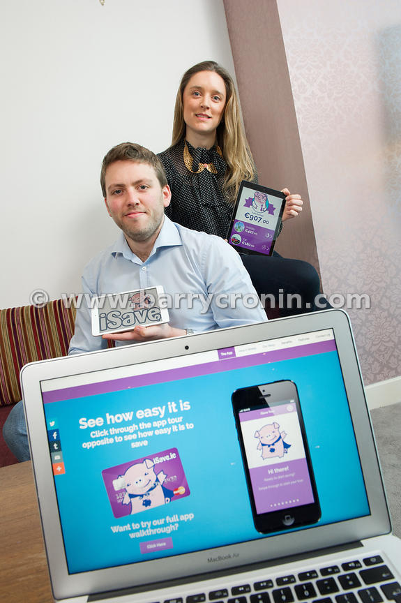 6th March, 2015.Shane and Ciara O'Brien (Co-Founders of iSave.ie and the iSave app) photographed in Dublin...Photo:Barry Cron...