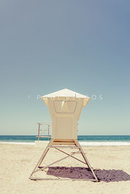 Laguna Beach Lifeguard Tower Retro Photo