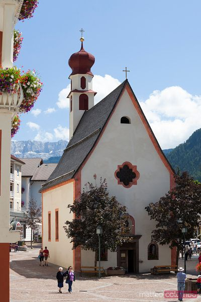 Church in Ortisei, Val Gardena