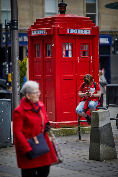 Red police box