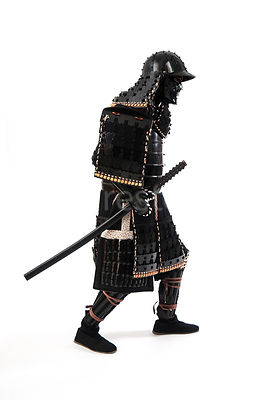A Samurai warrior from the side - shot from eye-level.