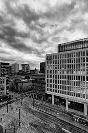 Manchester skyline (Black and White)