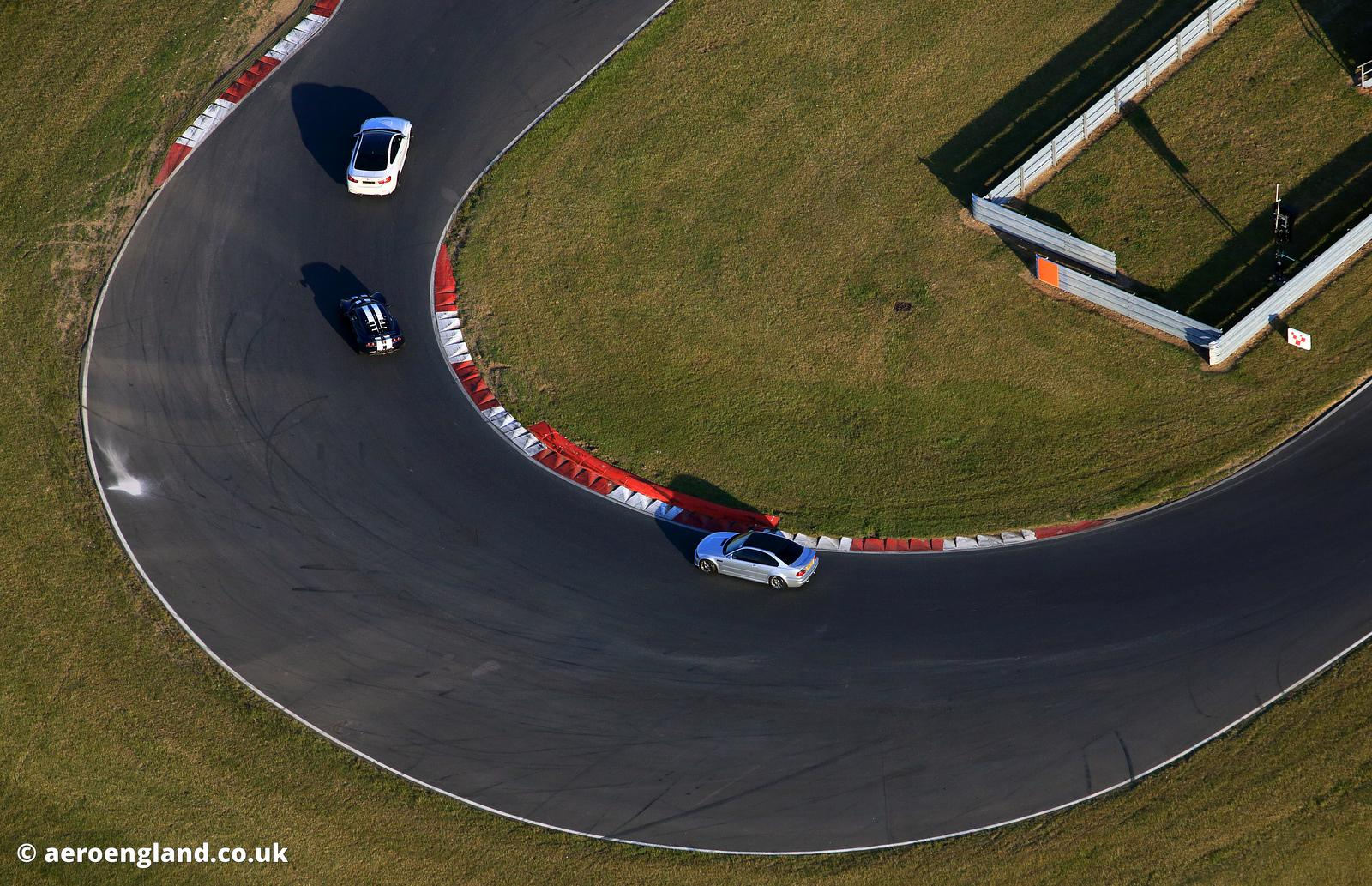 aerial photograph of Snetterton Racetrack