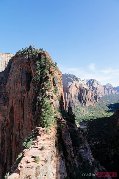 Angel's landing overlook, Zion Canyon NP, Utah, USA