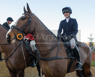 Isobel McEuen at the meet - The Cottesmore at Town Park Farm