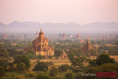Sunset over temples of Bagan, Myanmar