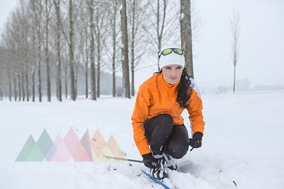 Austria, Kufstein, woman cross-country skiing