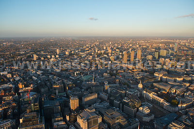 London. Aerial view of the City of London